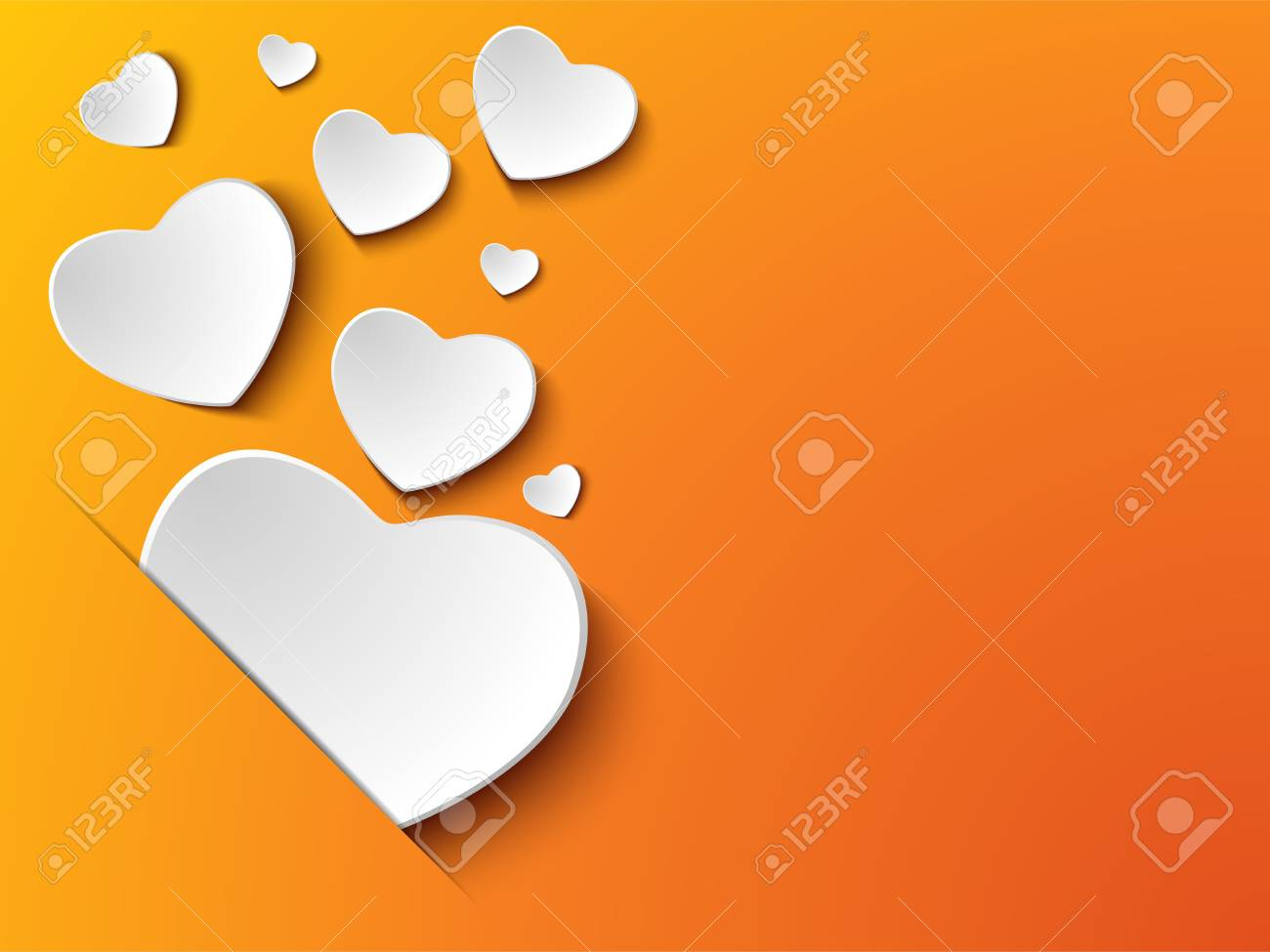 Valentine Day Heart on Yellow  Background Stock Vector - 17501379