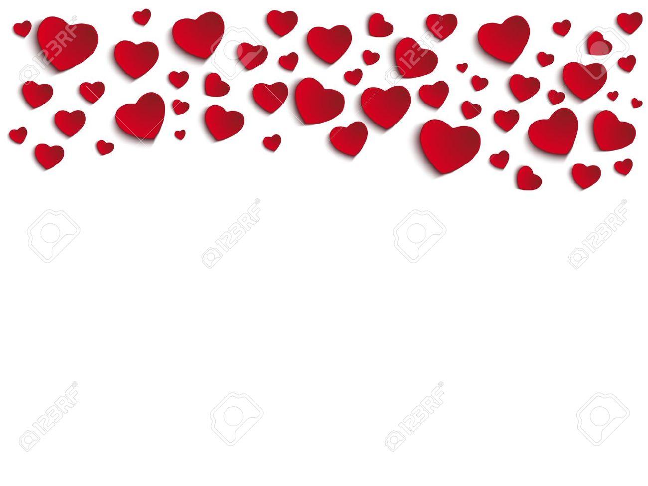 Valentine Heart Borders Valentine Day Heart on White