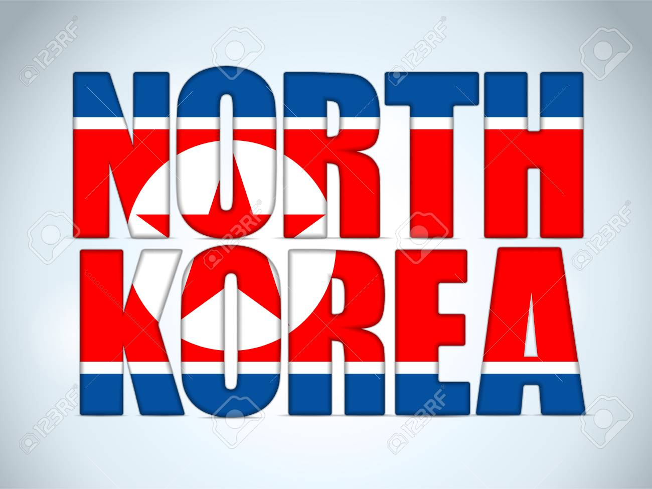 North Korea Country Letter Background Stock Vector - 18939973