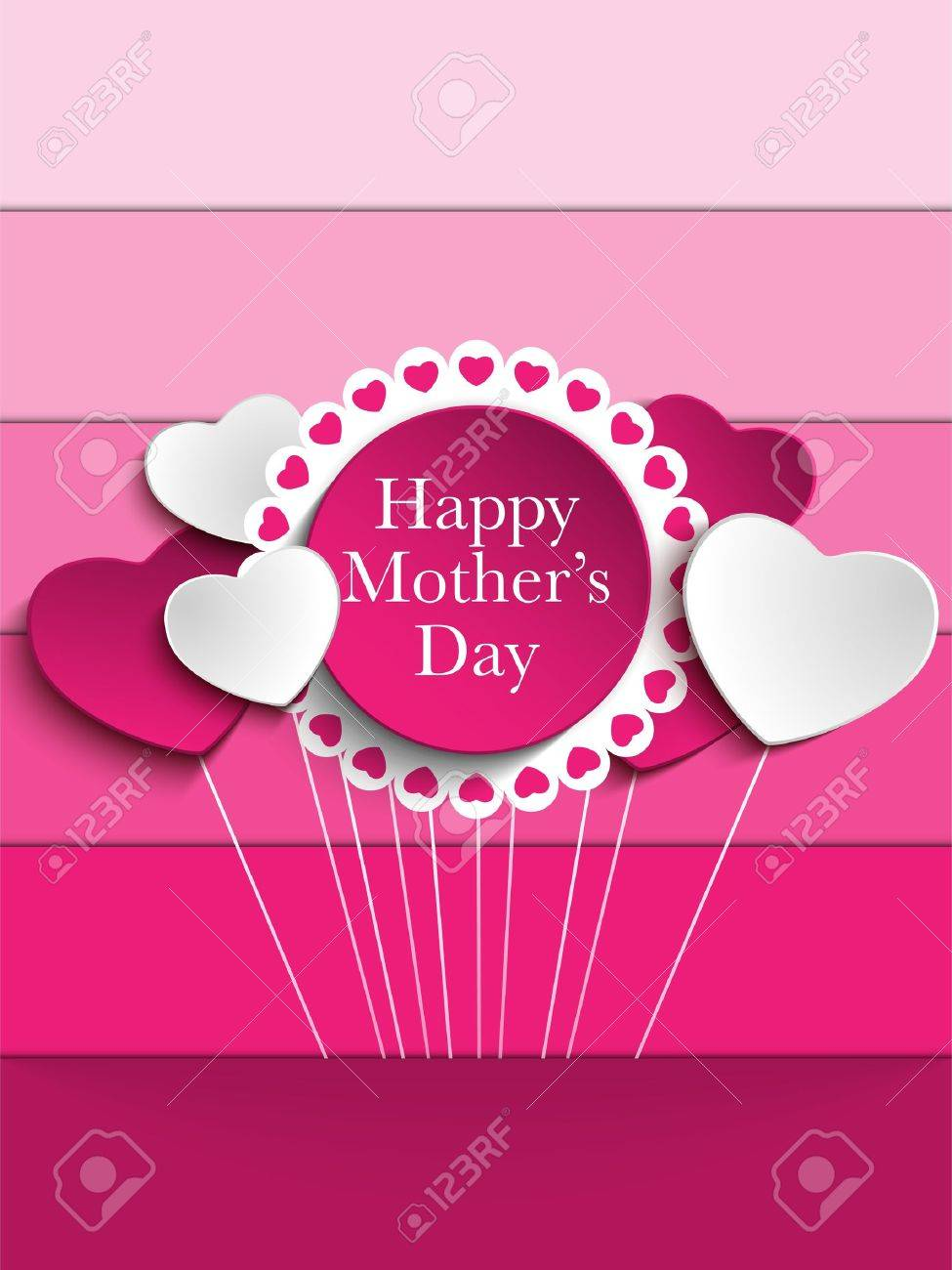 happy mother day heart tag background royalty free cliparts vectors