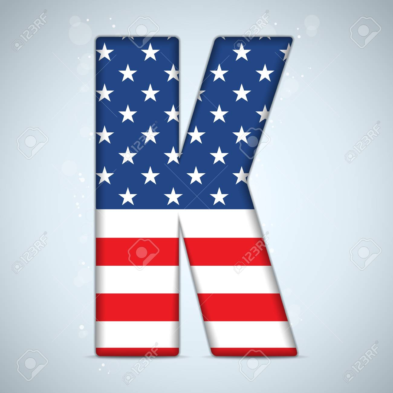 Vector - USA Independence Day Alphabet Letters Stock Vector - 19976422