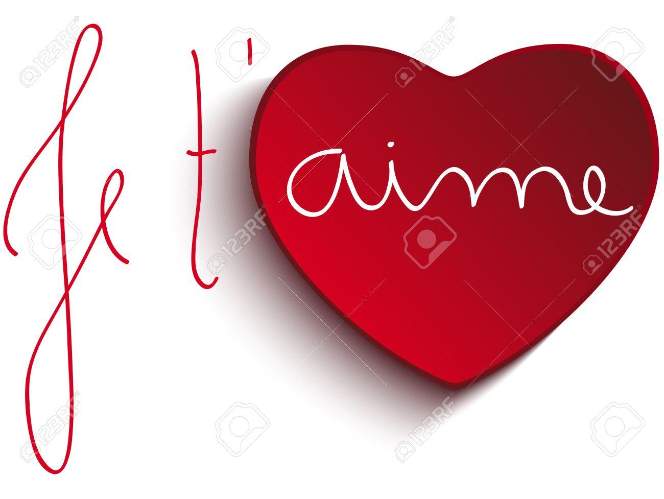 Vector El Día De San Valentín Corazón De Je Taime