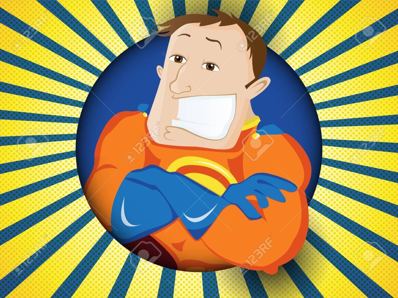 Archivio Fotografico - Vector - Super Hero papà. Giorno di padri felice 0a469d7a774c