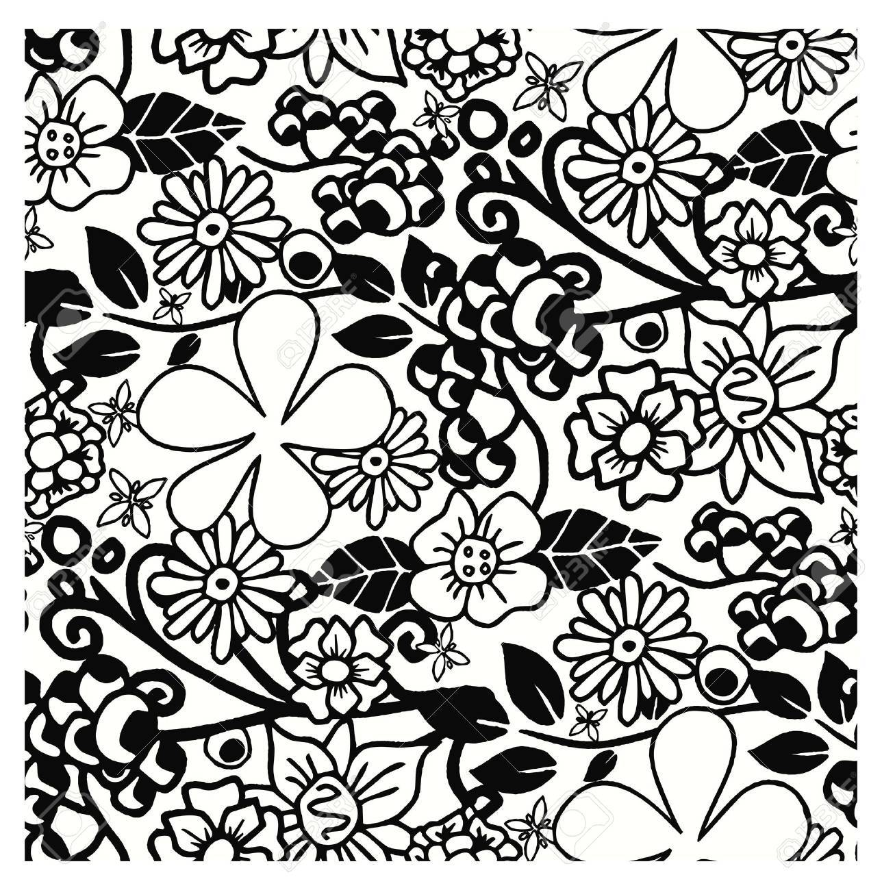 floral art full wallpaper Stock Vector - 15352220