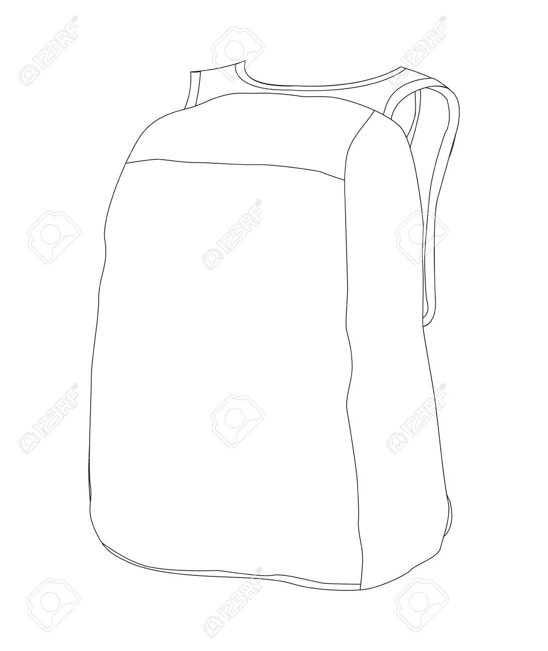 template of a bag