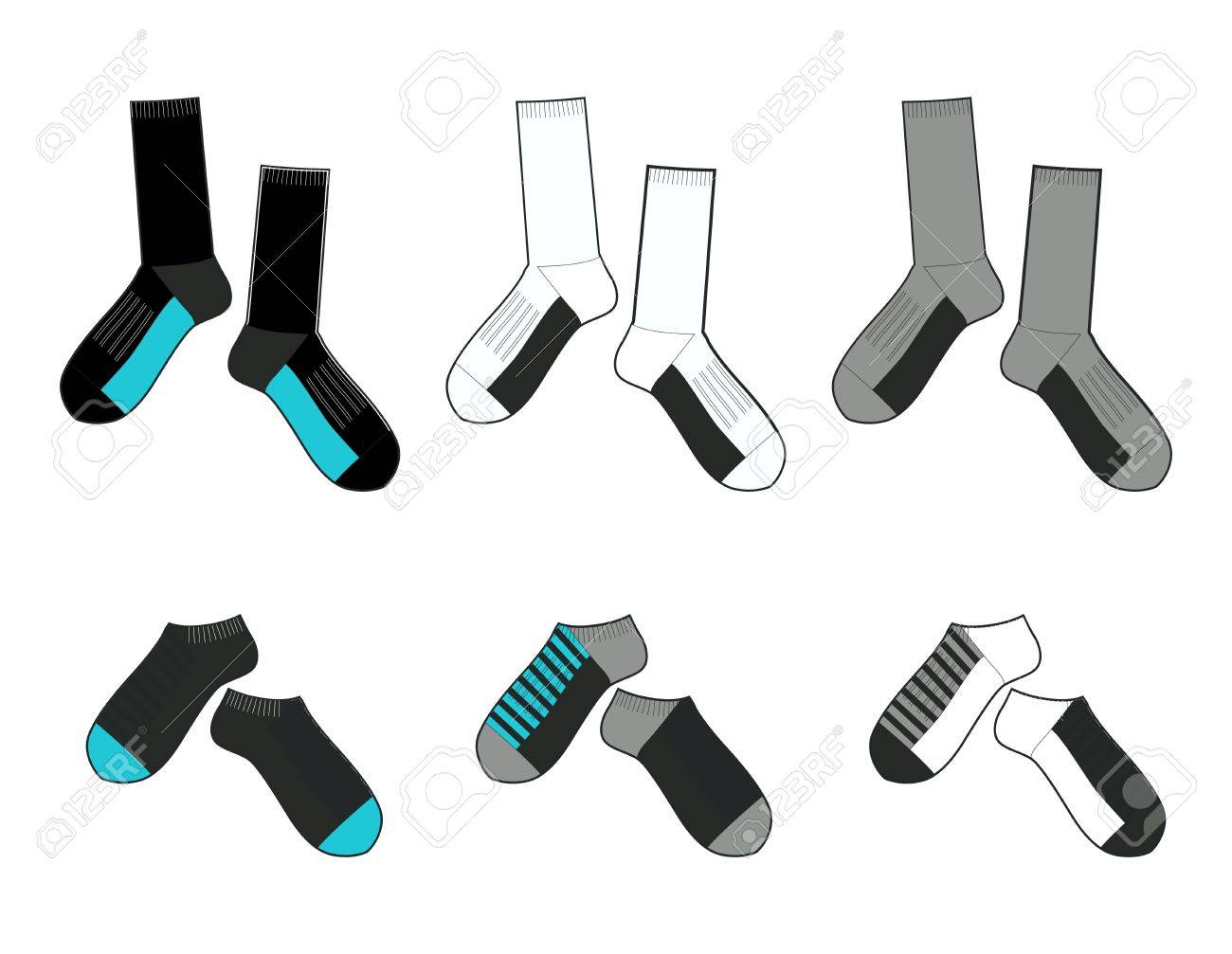 socks template royalty free cliparts vectors and stock