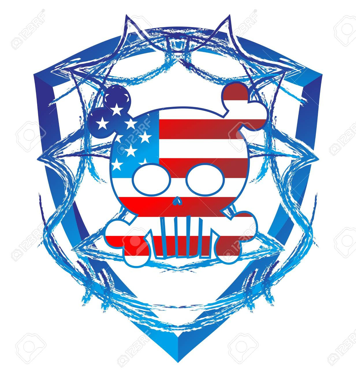 skull high evil america Stock Vector - 16144934