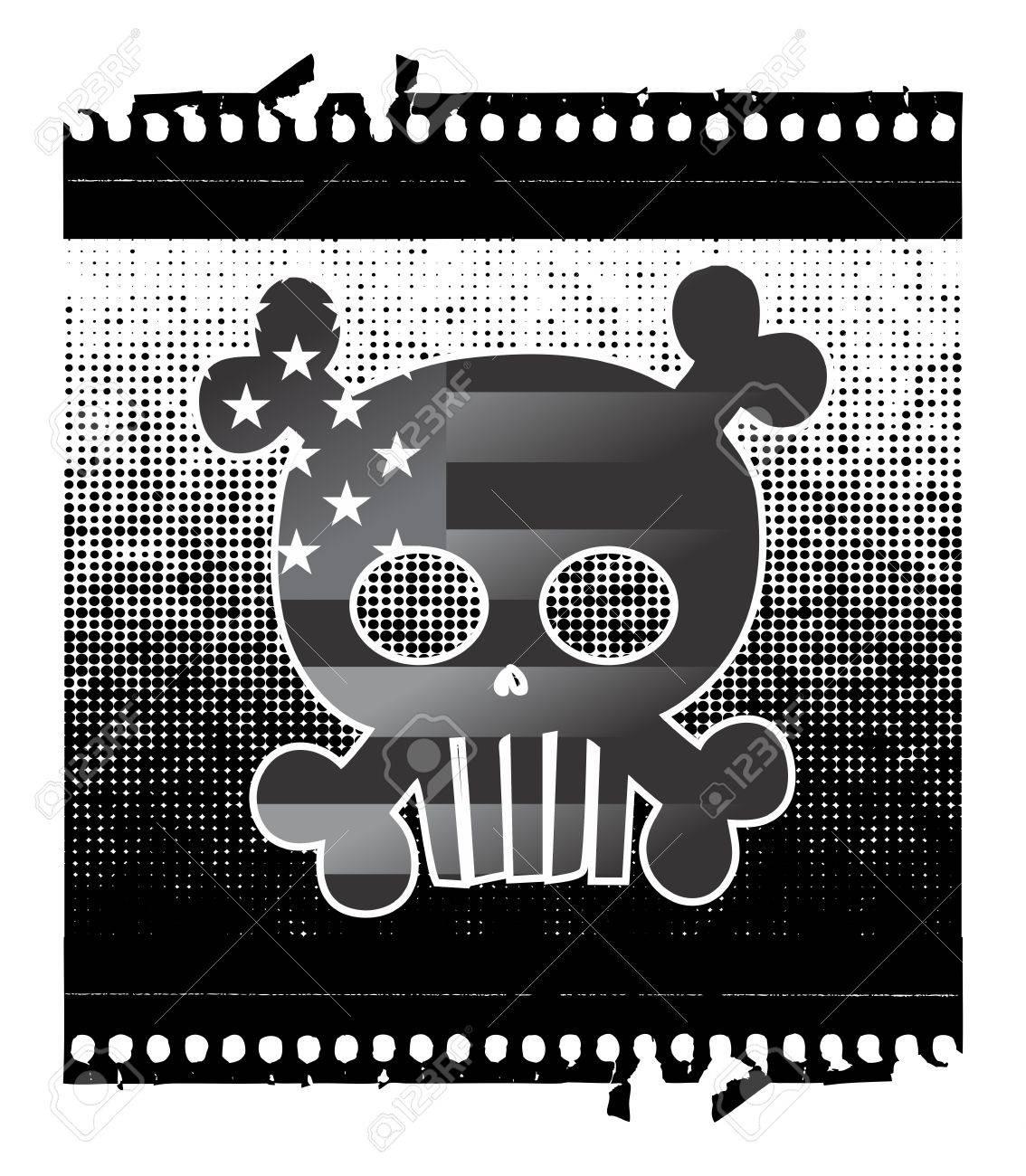 skull devil art star Stock Vector - 16144906