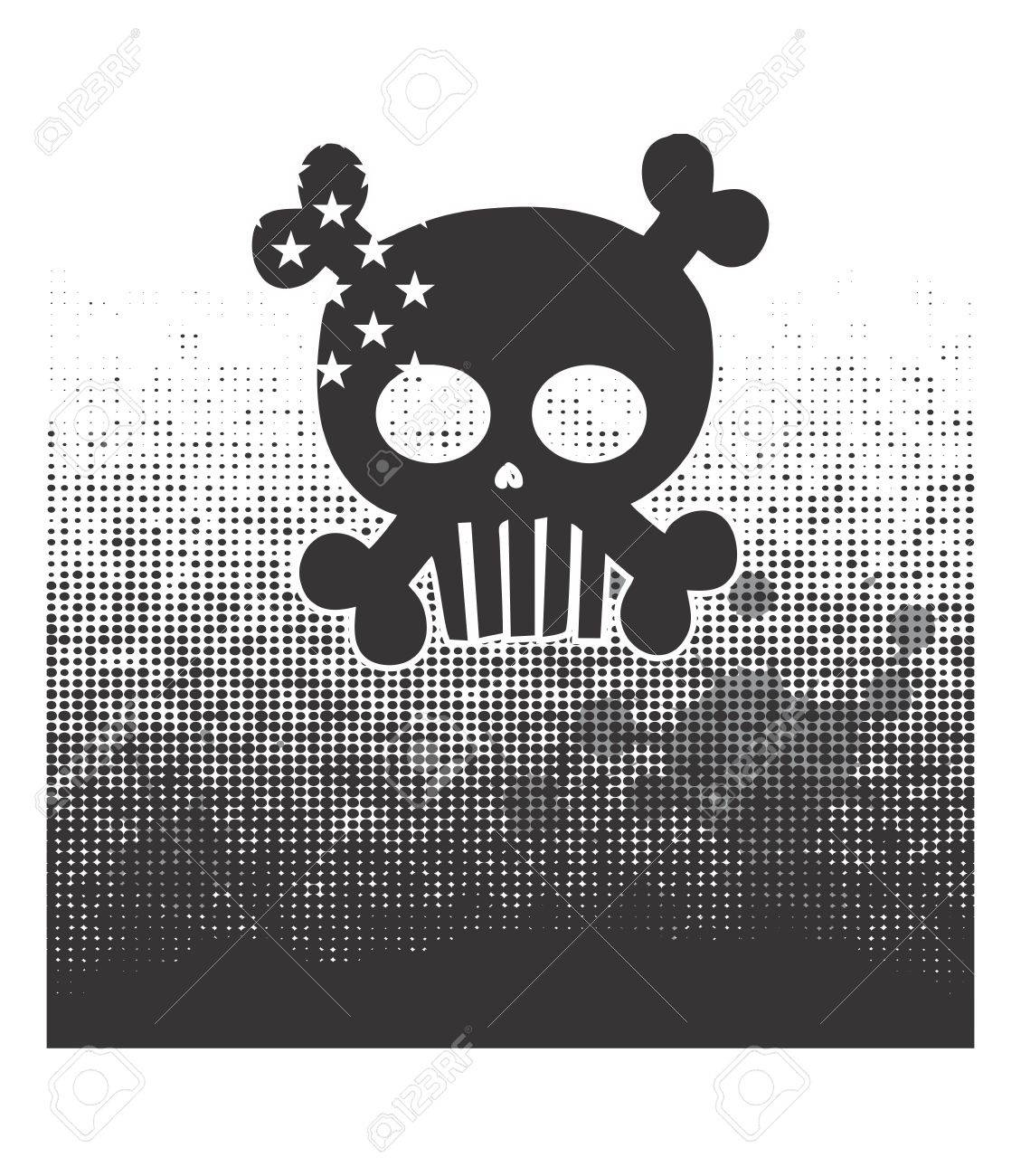 skull devil art dark Stock Vector - 16144908
