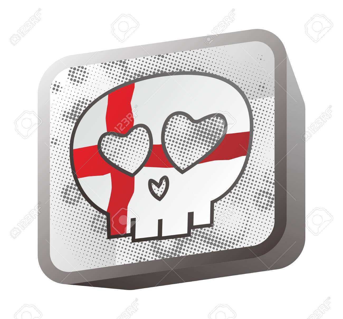 skull in flag england Stock Vector - 16395257