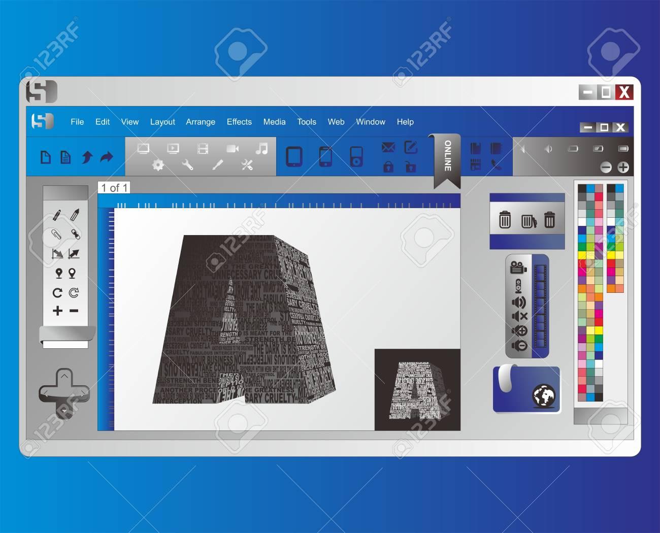 application window Stock Vector - 17137930