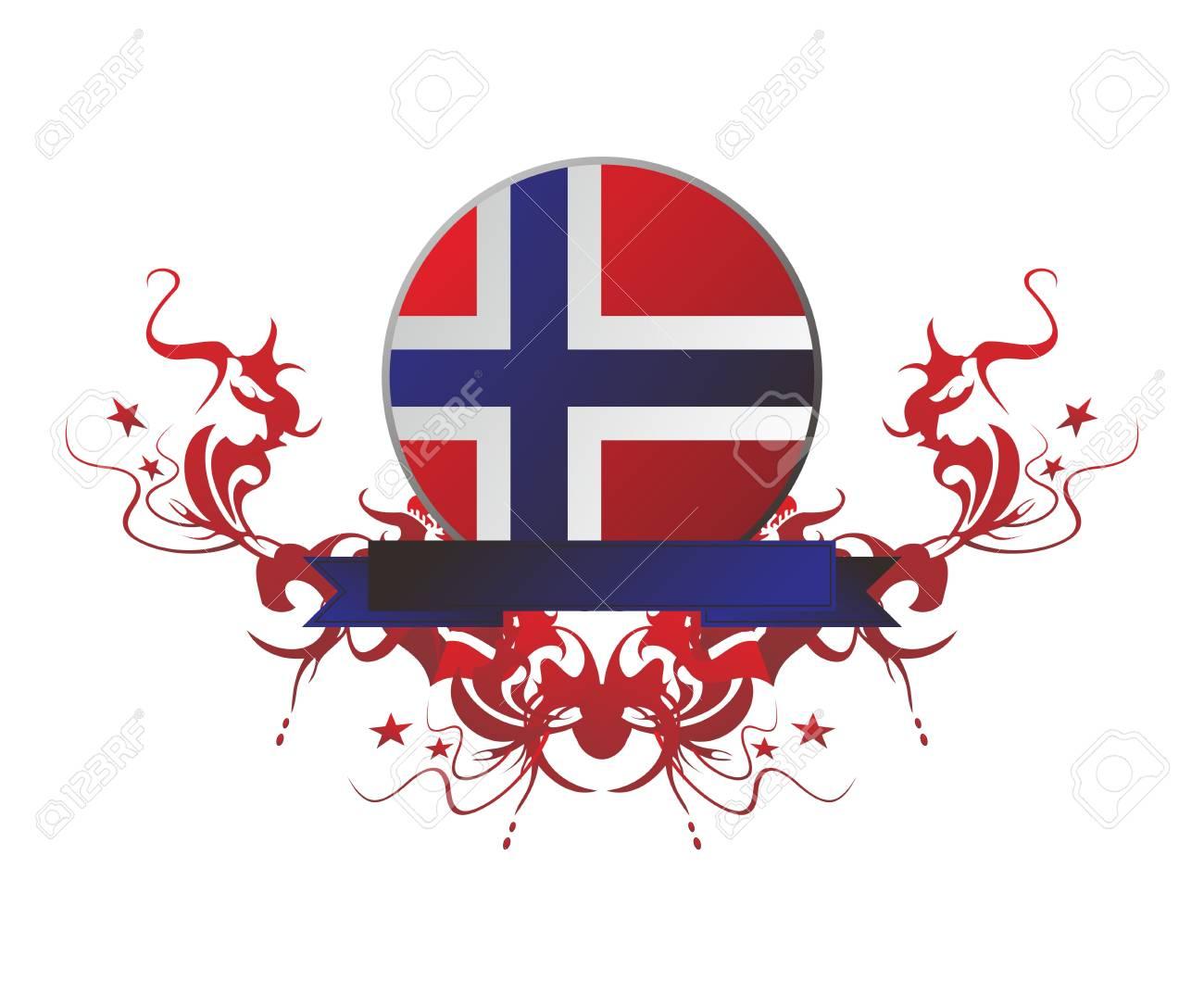 flag button floral Stock Vector - 17137911