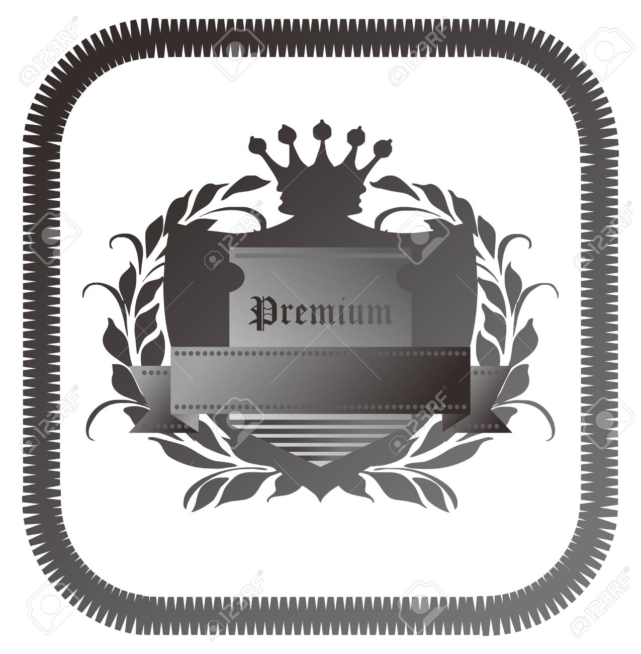 premium grey Stock Vector - 17205832