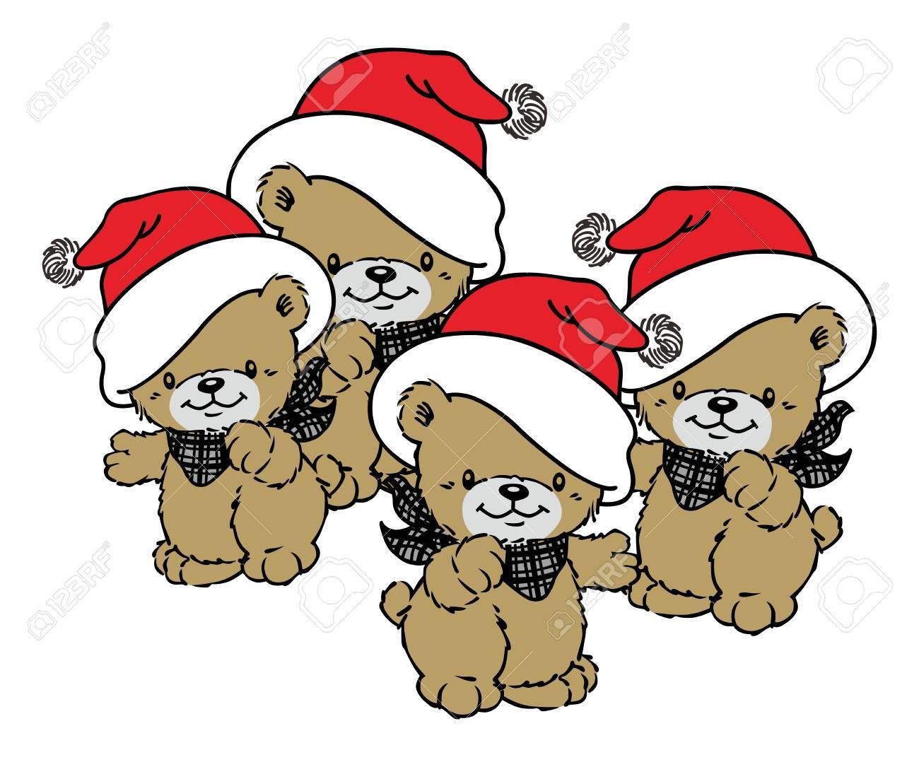 christmas bear Stock Vector - 17362906