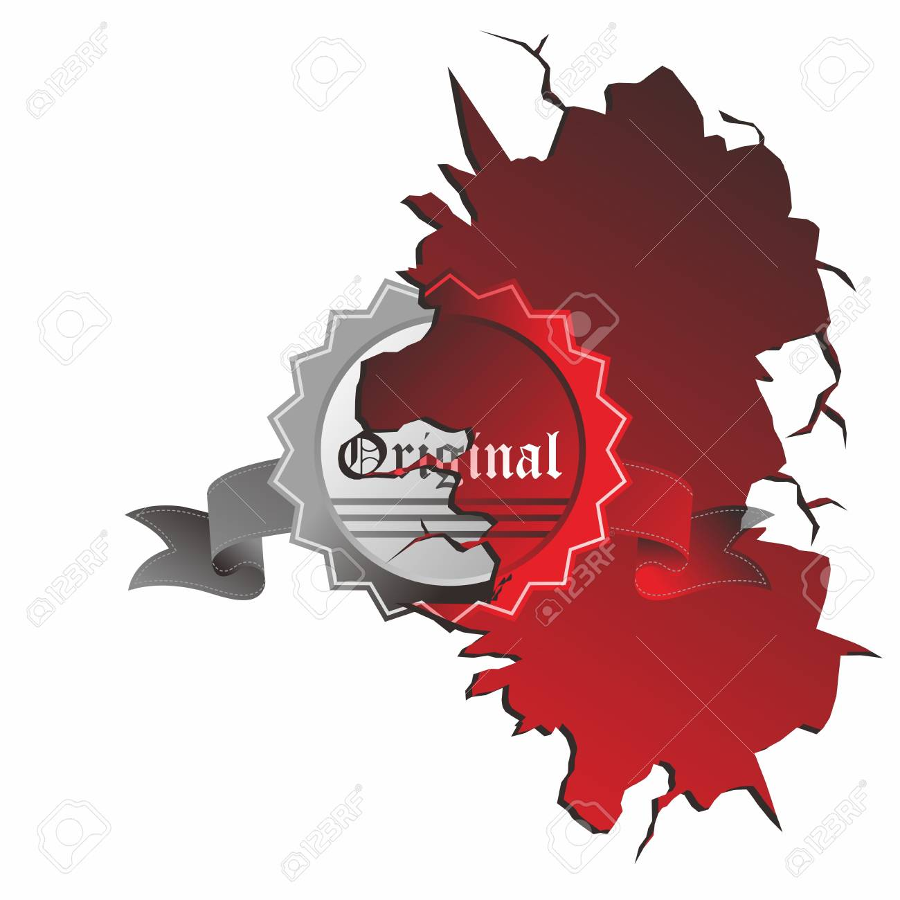 red label old Stock Vector - 17480191