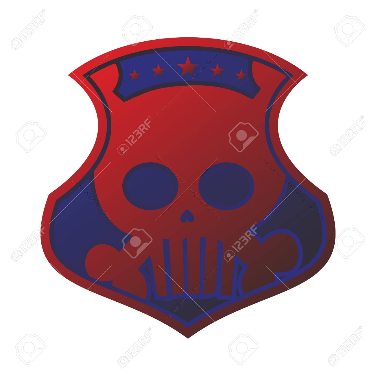 seal tag red blue Stock Vector - 17546165