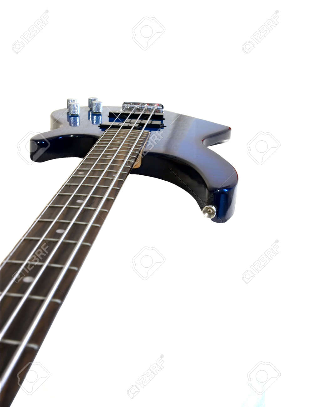 C�oseup of an electric bass isolated on white Stock Photo - 895201