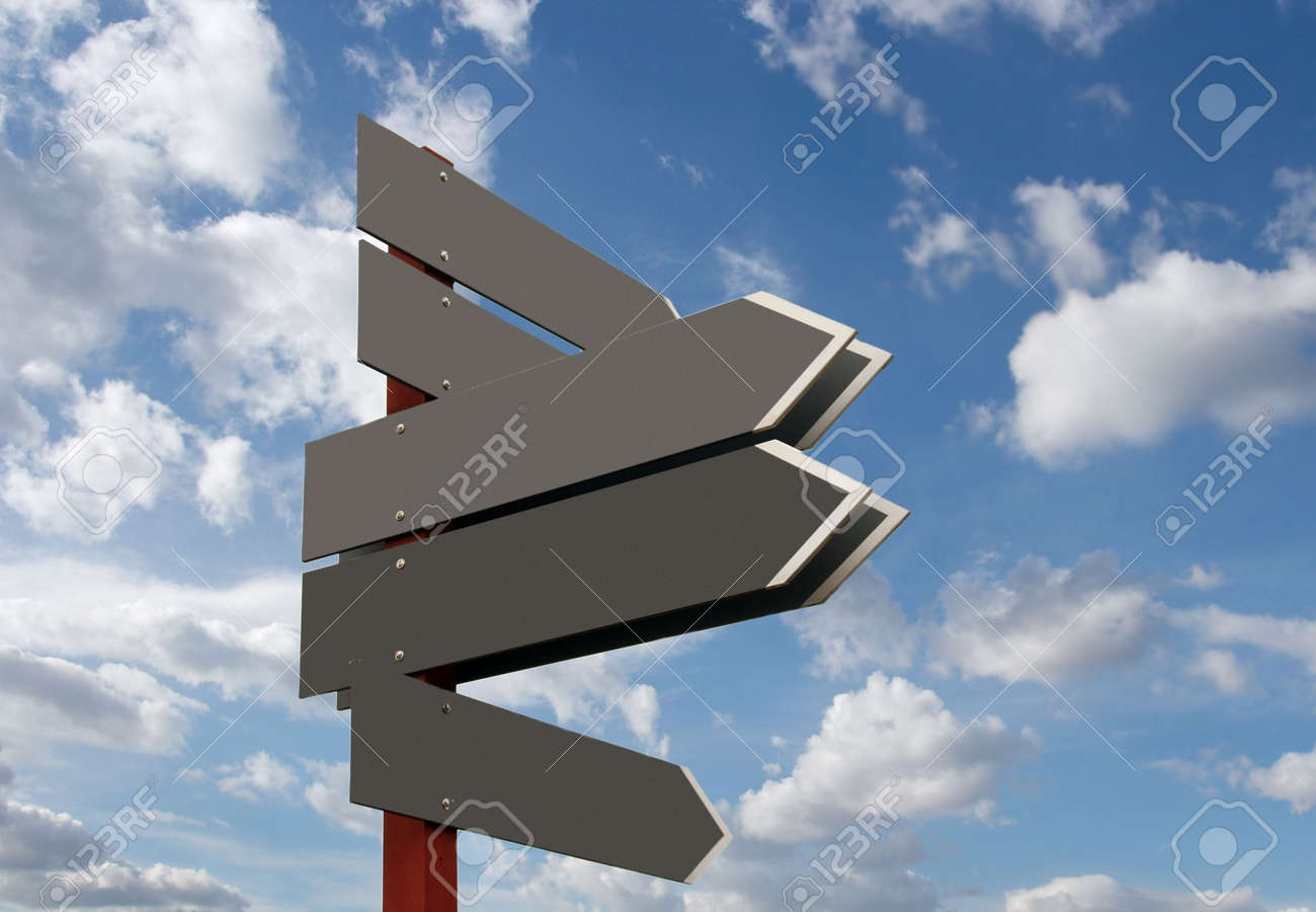 Blank signpost. Add your own text Stock Photo - 3065199