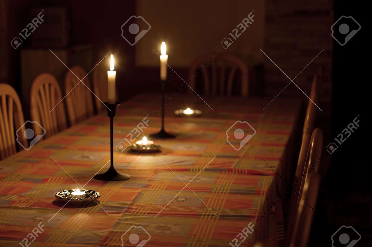 Dining table in dim candle light stock photo picture and royalty dining table in dim candle light stock photo 3603300 aloadofball Images