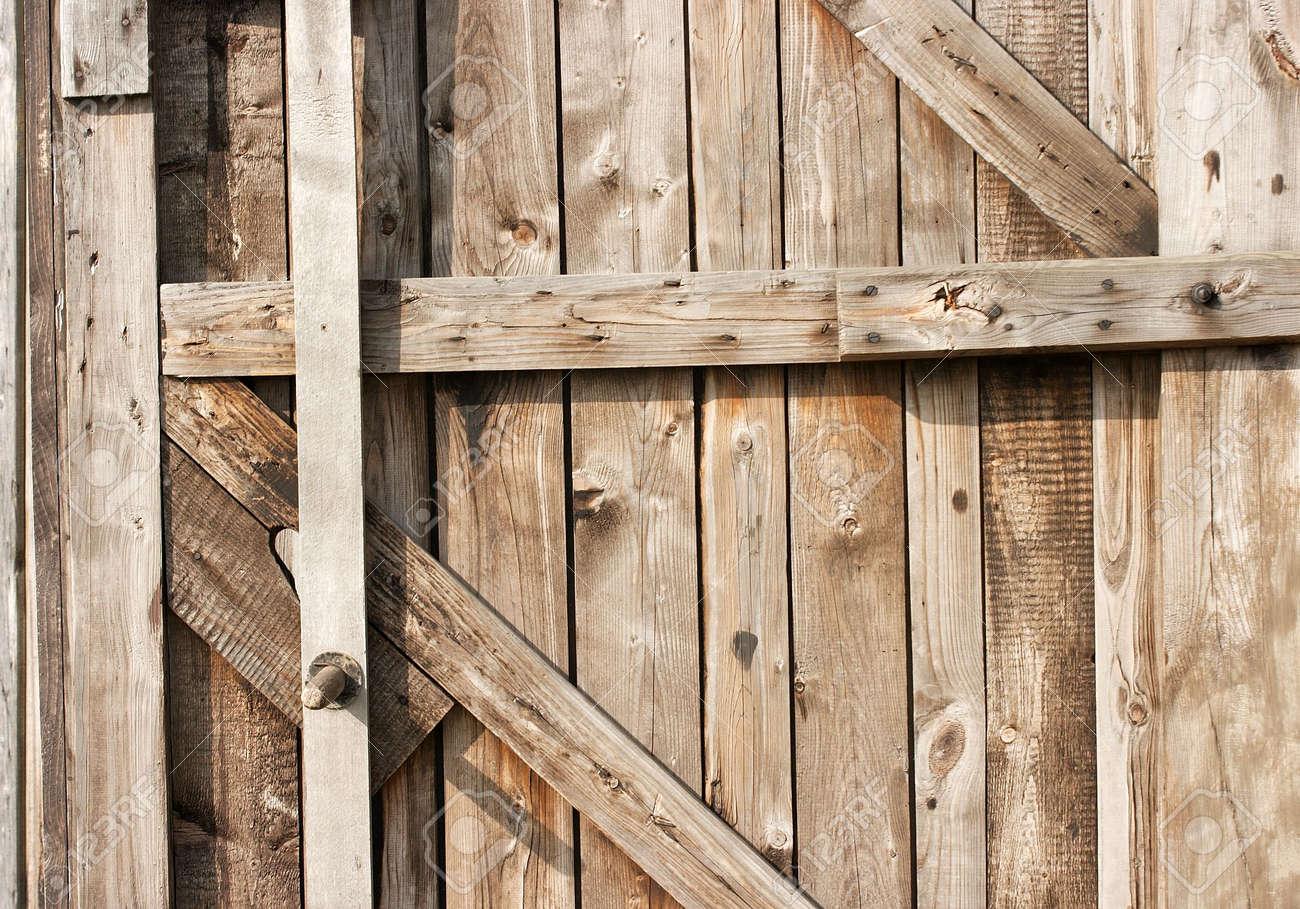 Stock Photo   Wooden Texture Of An Old Barn Door