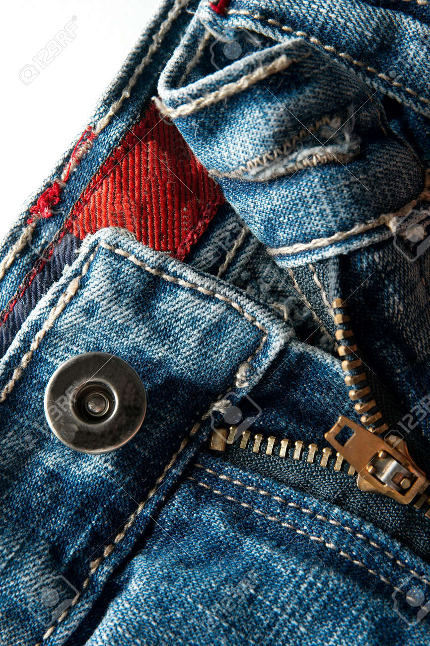 Detail of a blue jeans Stock Photo - 4495590