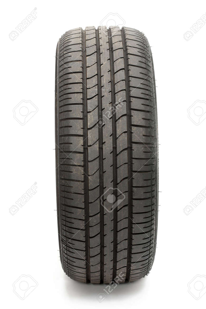 Car tyre isolated on pure white background Stock Photo - 4875180