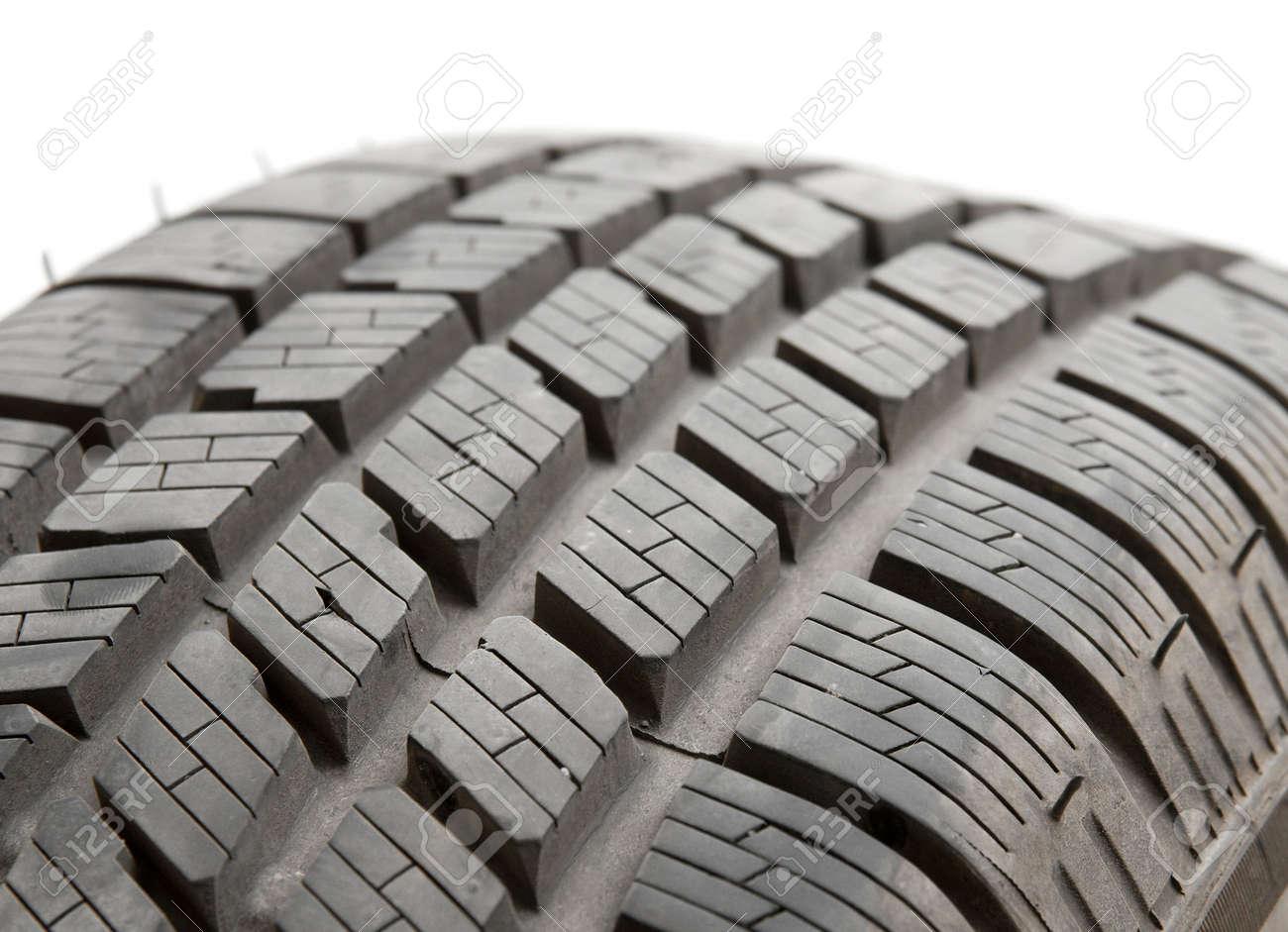 Car tyre detail closeup Stock Photo - 6674636
