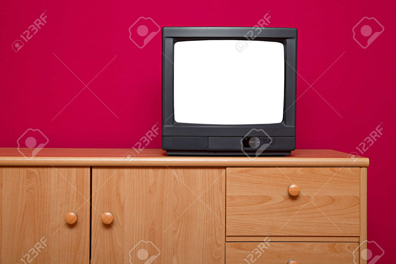 TV set with blank white screen Stock Photo - 6816287