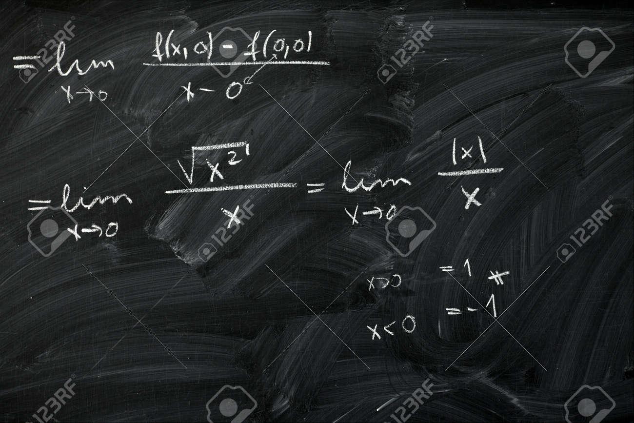 Blackboard in a school with math formulas Stock Photo - 7066323
