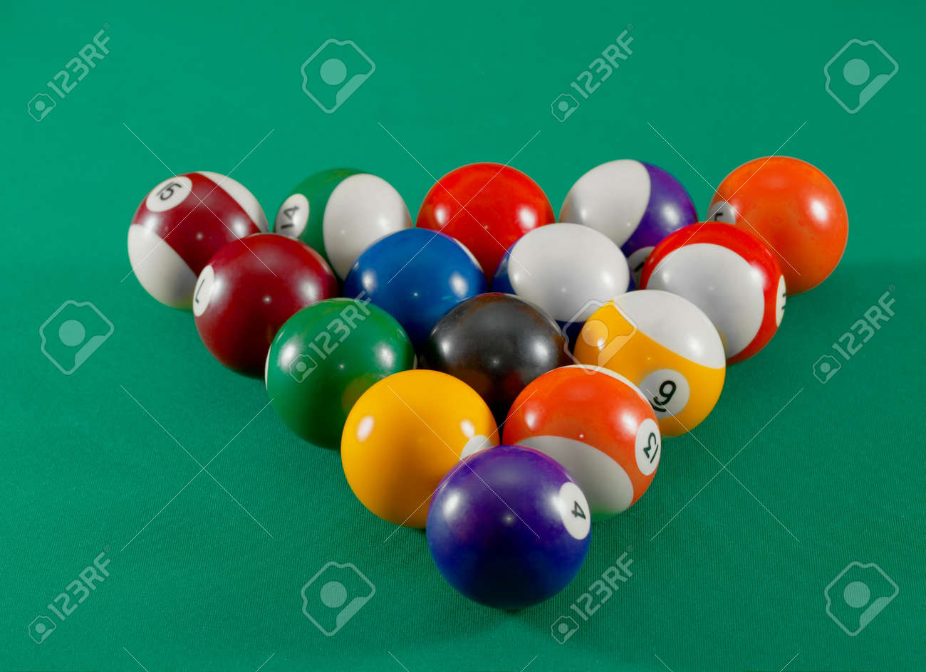 Setting Up A Pool Table Pool Table Balls Set Up For Starting Stock Photo Picture And