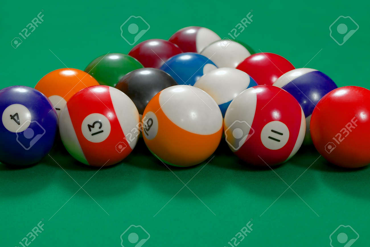 Pool Table Setup >> Pool Table Beginning Setup Stock Photo Picture And Royalty Free