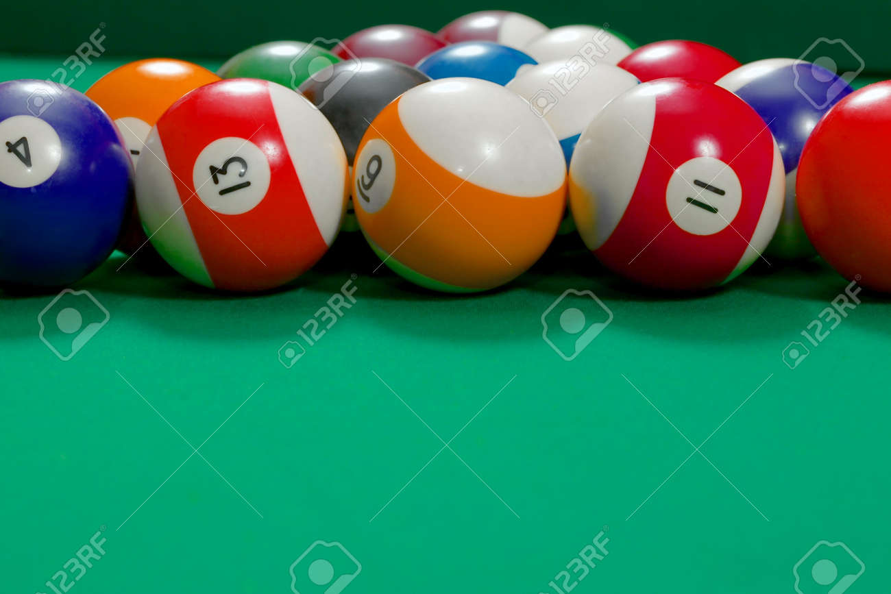 Pool Table With Balls Set Up Gor Beginning Stock Photo Picture And - How to set up a pool table