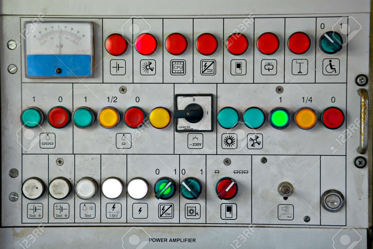 Switches On An Industrial Control Board Stock Photo, Picture And ...