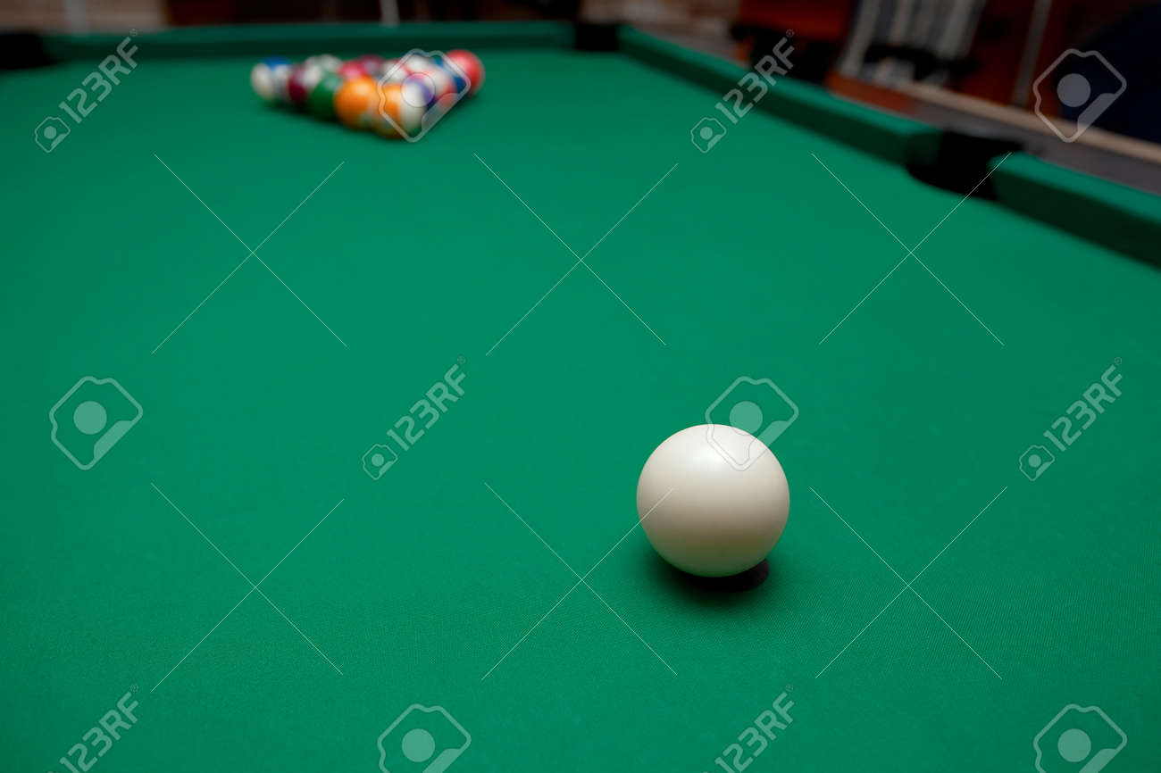 Pool Table Set Up For Start Stock Photo Picture And Royalty Free - How do you set up a pool table