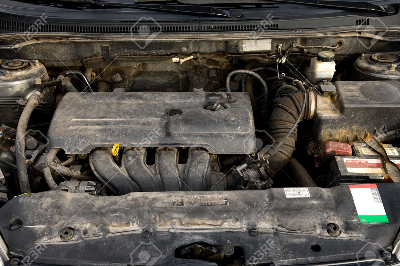 Old, Dirty Car Engine Stock Photo, Picture And Royalty Free Image ...