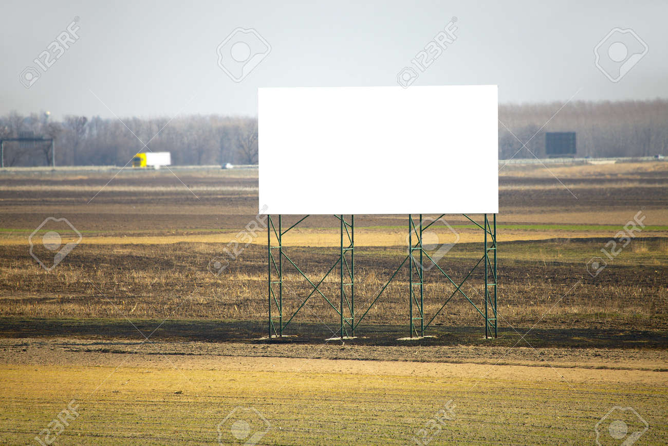 Empty advertisement board next to a highway Stock Photo - 19080398