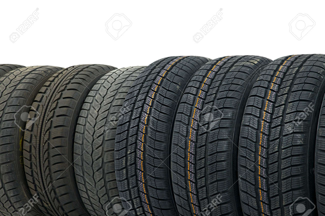 Row of car tyres Stock Photo - 20194693