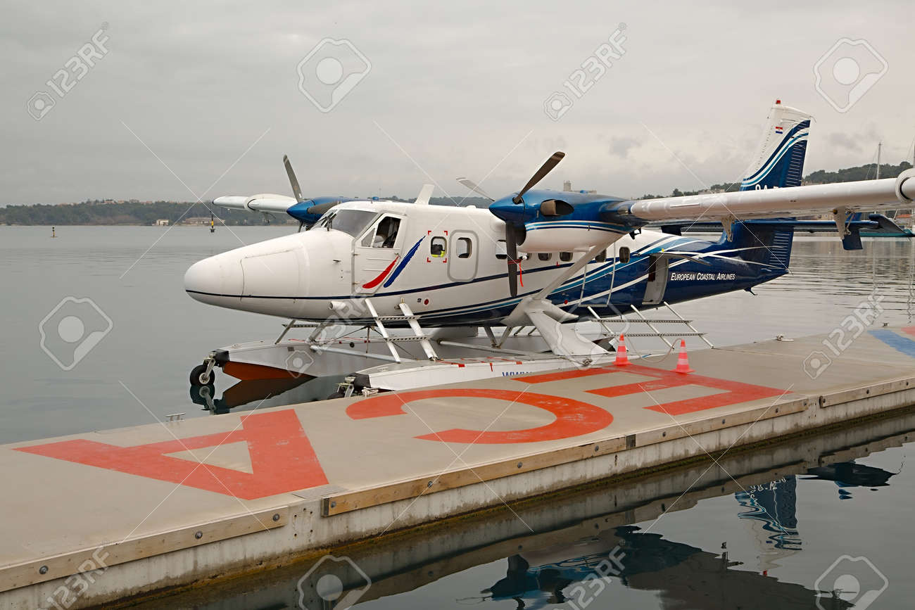 Pula Croatia February 22 2015 Dhc 6 Twin Otter Seaplane Stock Photo Picture And Royalty Free Image Image 55989474