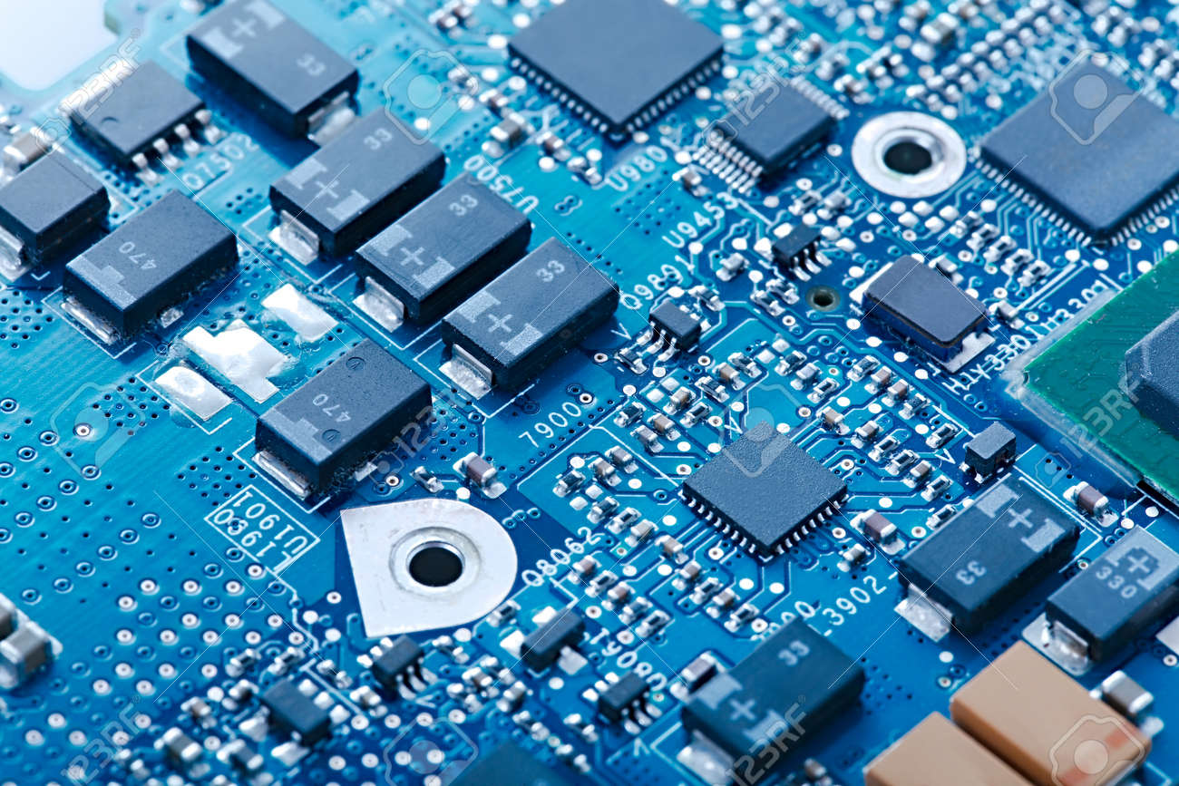 Circuit board with electronic components - 57675588
