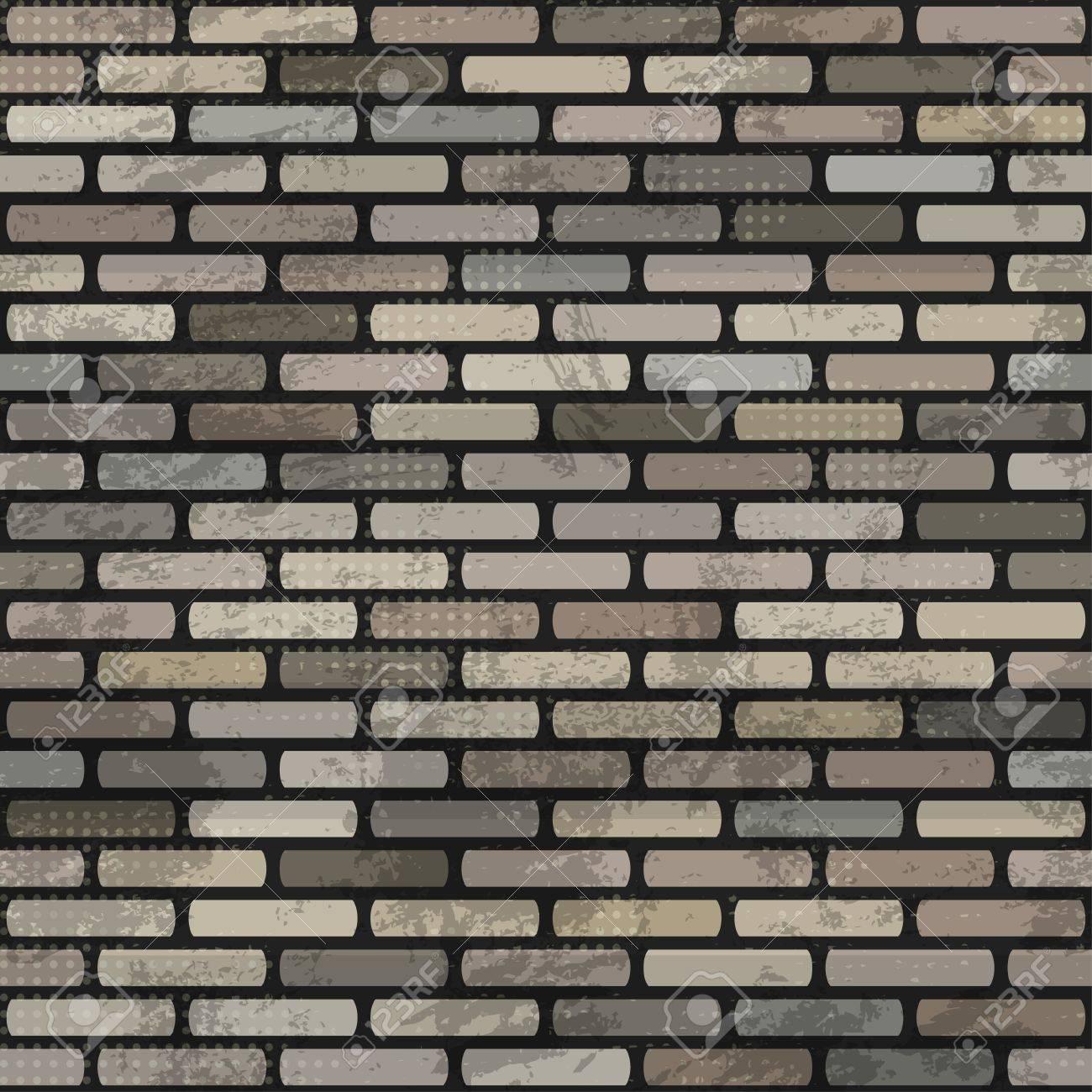 abstract brick wall seamless Stock Vector - 16665198