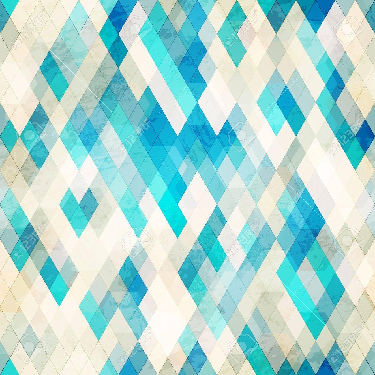 blue romb grunge seamless Stock Vector - 16665249