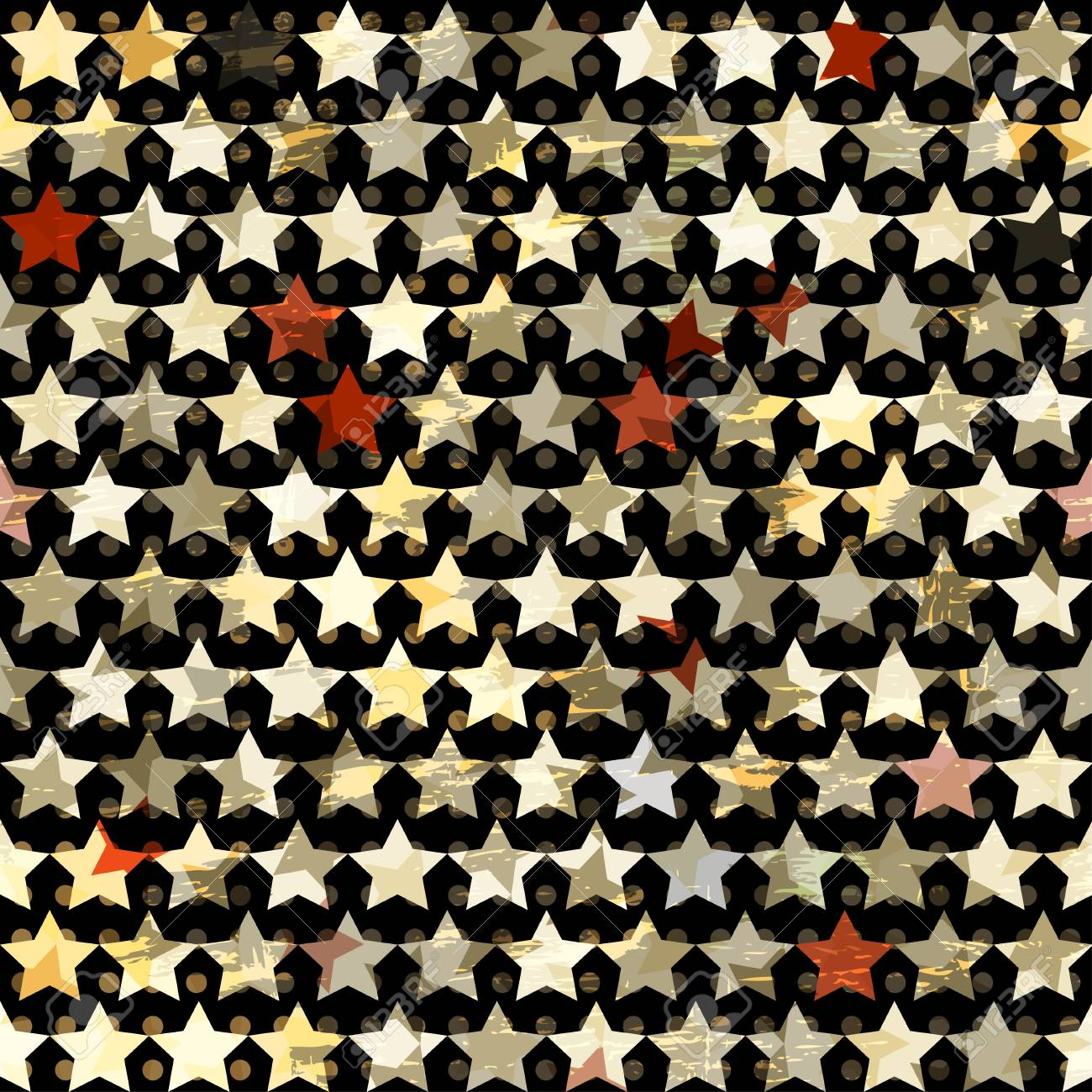gold star seamless Stock Vector - 16665082
