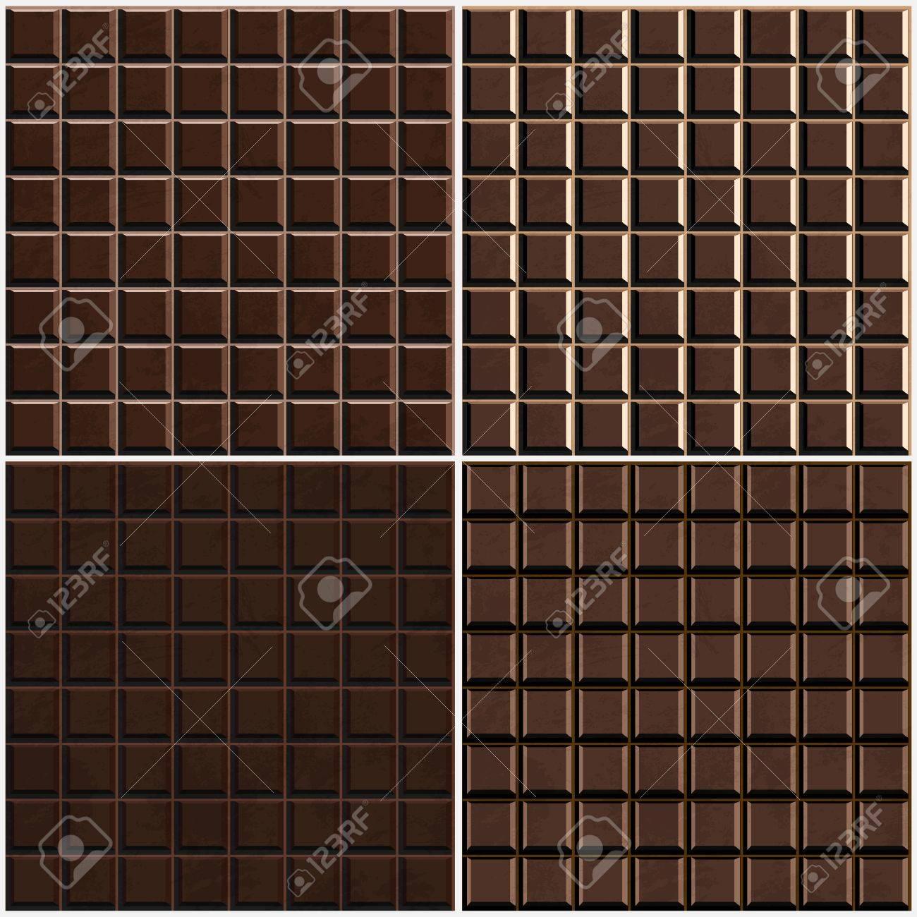 chocolate seamless background set Stock Vector - 17616945