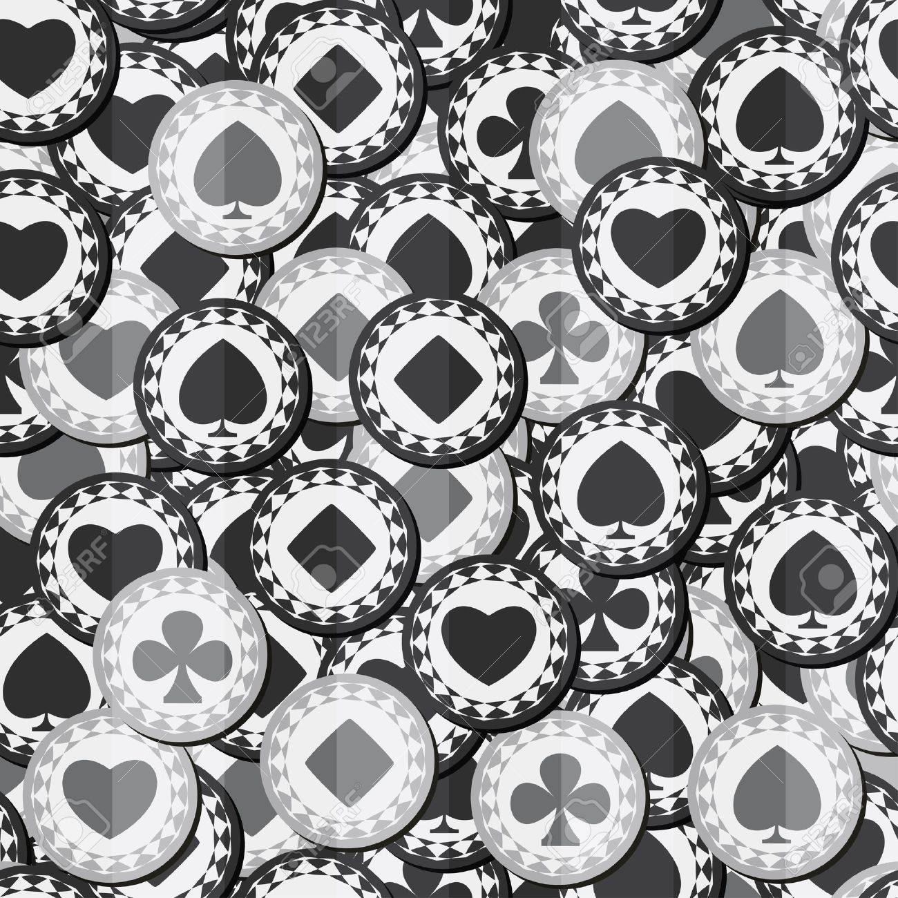 monochrome poker chips seamless texture Stock Vector - 17616930