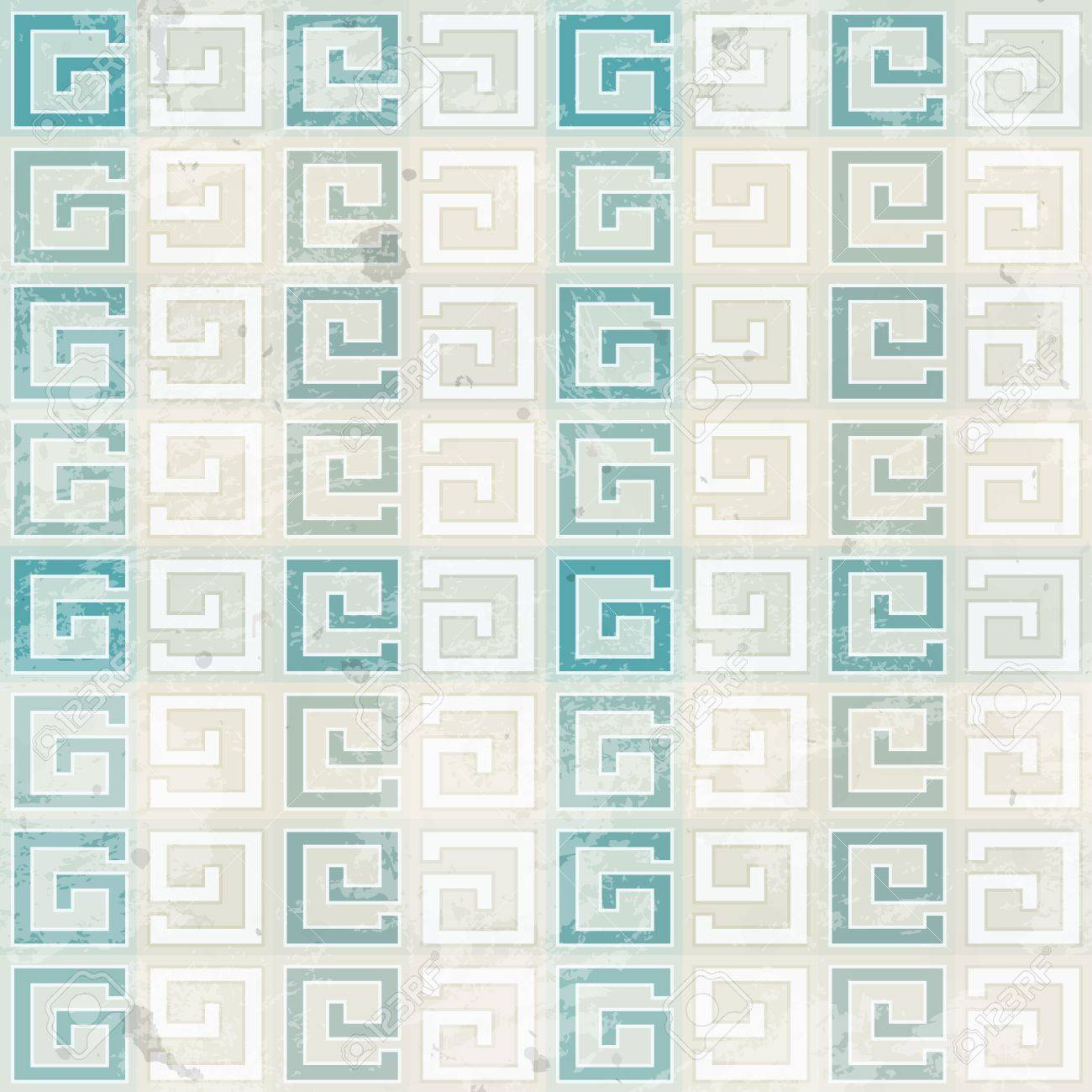 ancient seamless pattern with grunge effect Stock Vector - 19280246