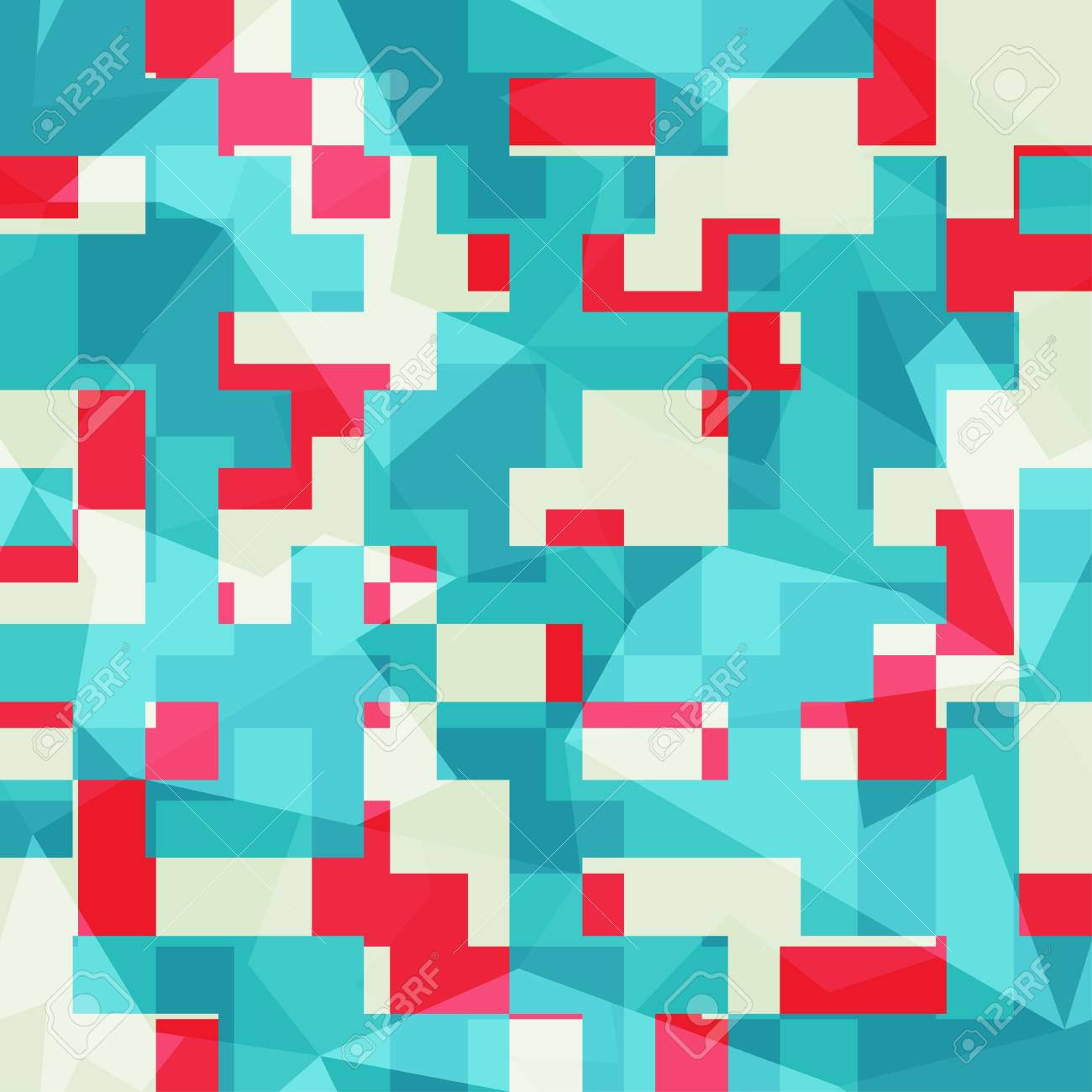 abstract blue squares seamless pattern Stock Vector - 21504866