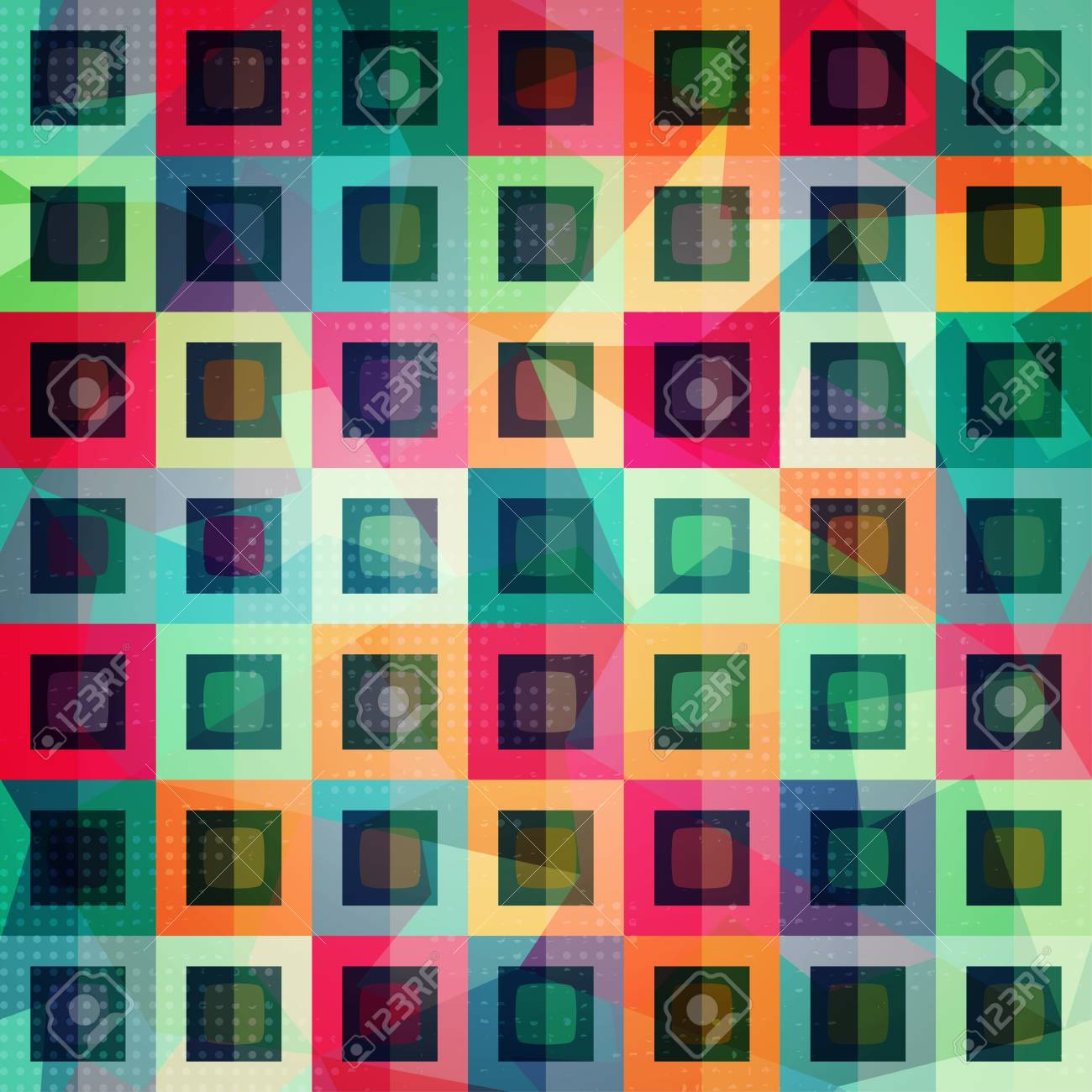 colored squares seamless pattern Stock Vector - 21504990