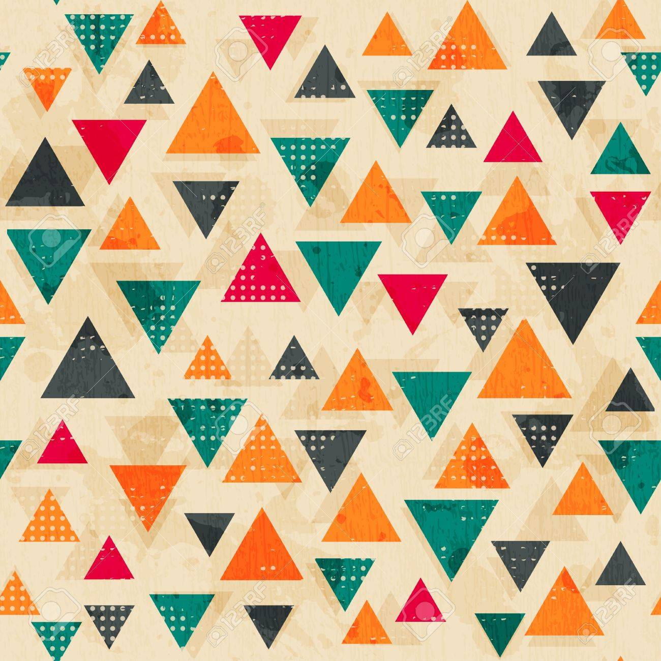 vintage colored triangle pattern with grunge effect Stock Vector - 21505183