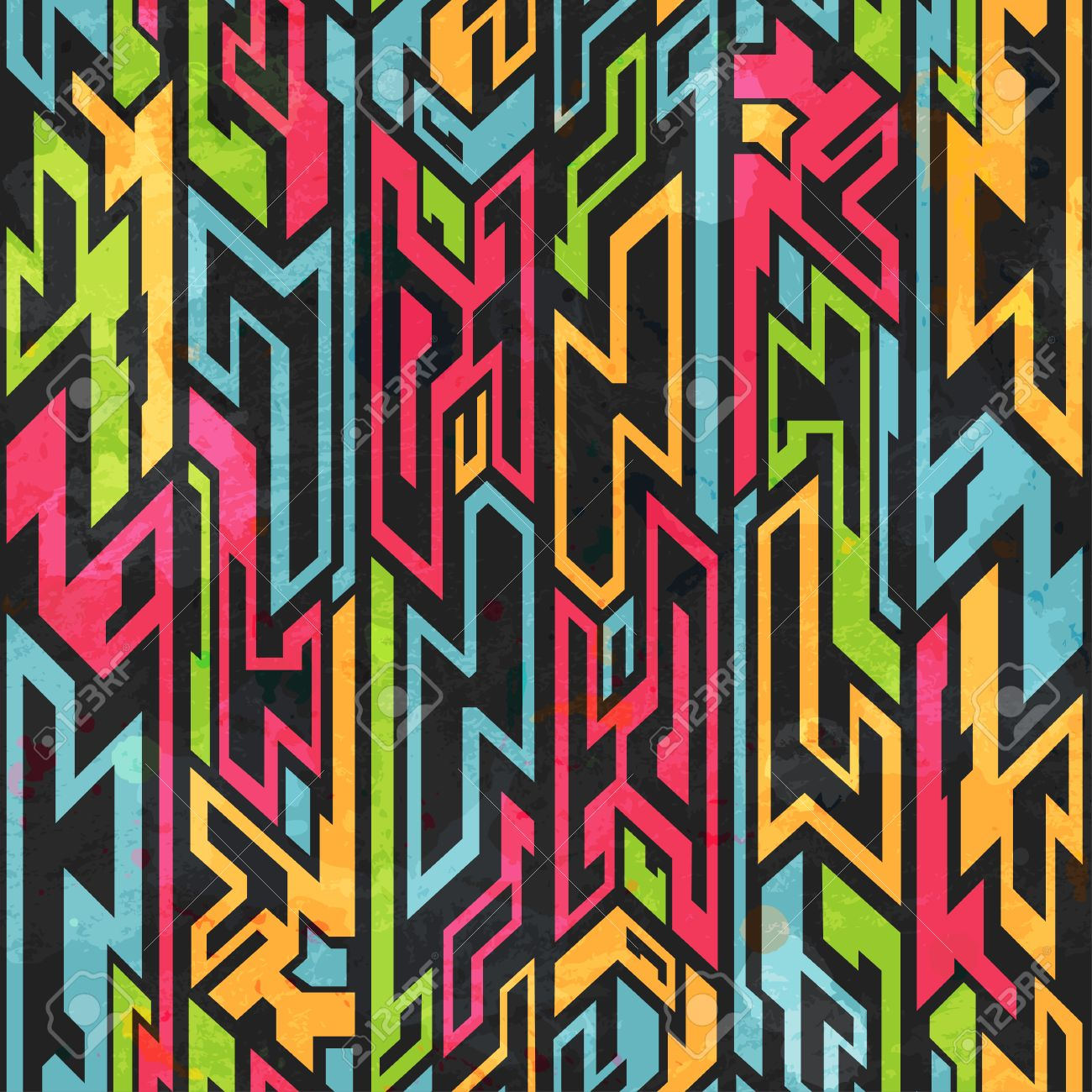 Color Transparente Patrón Pinturas Tribales Ilustraciones