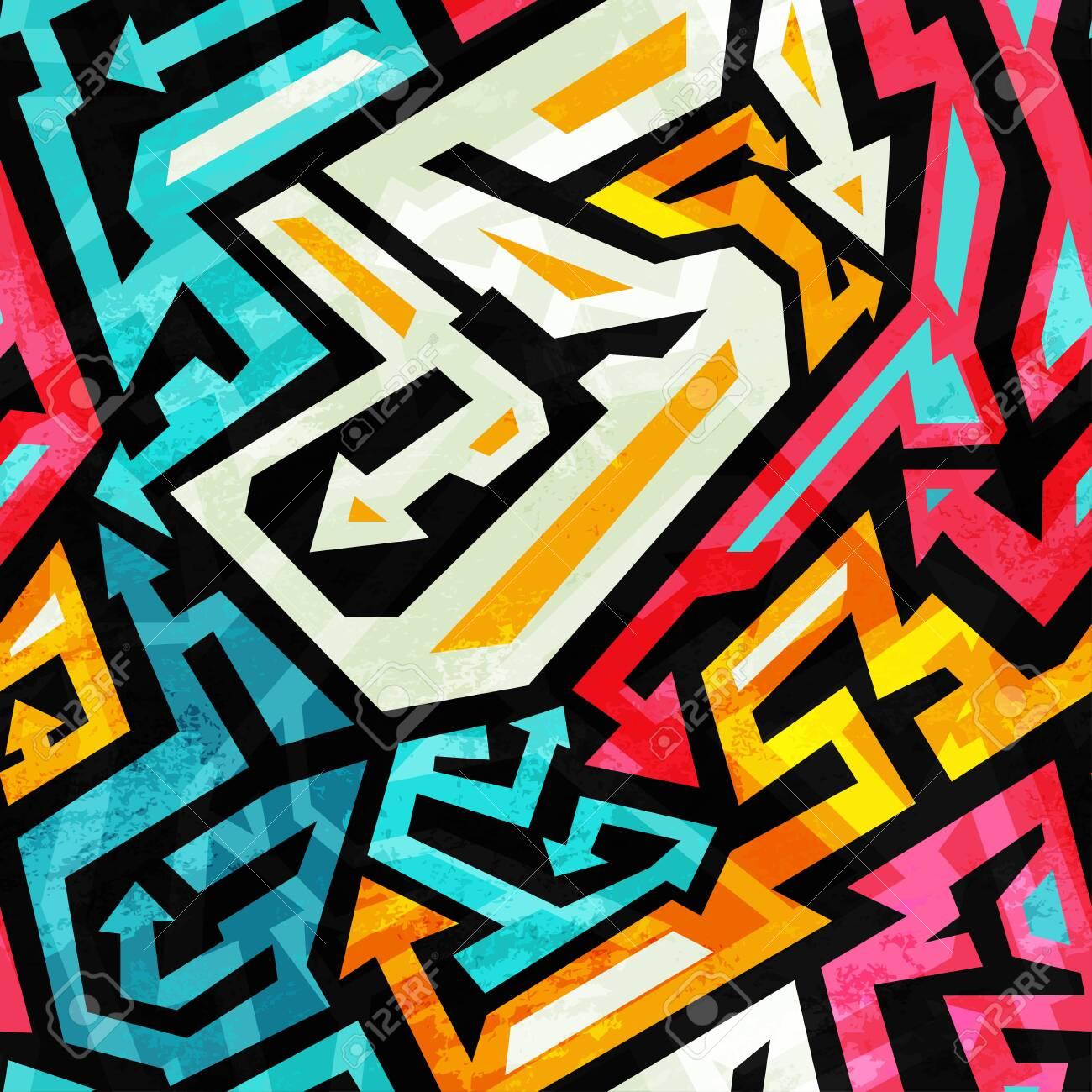Abstract geometric seamless pattern - 144754729